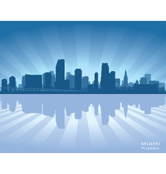 Miami Florida skyline vector image