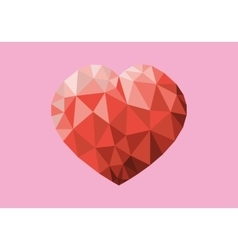 Red Heart On Pink Backdrop vector image vector image