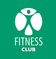 Round logo for fitness clubs on a green background vector image vector image
