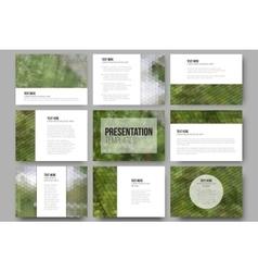Set of 9 templates for presentation slides nature vector