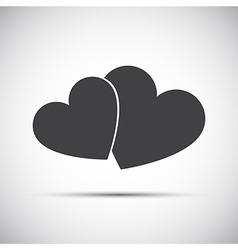 Simple of a two hearts icons vector image vector image