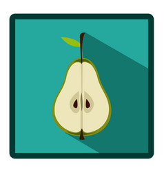 symbol pear split in half icon vector image