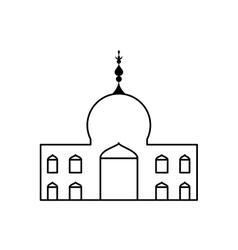 Temple icon indian architecture design vector
