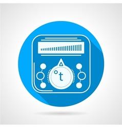 Thermoregulator of heated floor icon vector