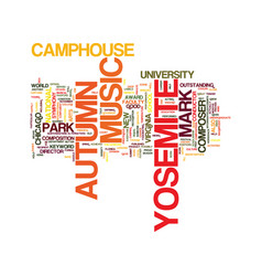 Yosemite autumn text background word cloud concept vector