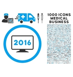 2016 display icon with 1000 medical business vector
