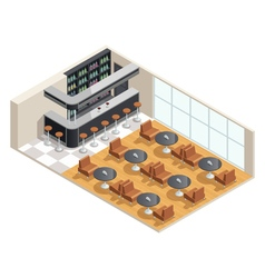 Cafe Interior Isometric vector image