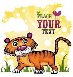 funny tiger vector image