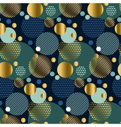Modern abstract seamless pattern with circles xmas vector