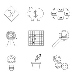 Strategy and business success lined icon vector