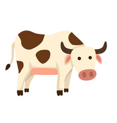 Isolated cow on white background vector