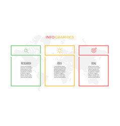 Business infographics presentation with 3 columns vector