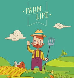 Friendly healthy farmer vector