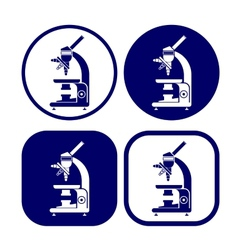 Microscope icon set vector