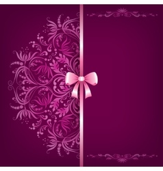Elegant background and ornament with bow vector image