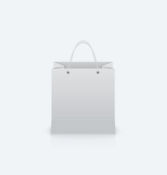 Paper bag with handles vector