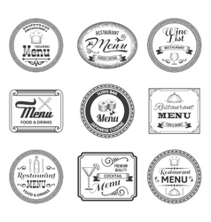 Retro menu labels vector