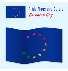 European gay pride flag with correct color scheme vector