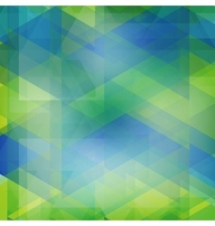 Abstract geometric shape from color triangles vector