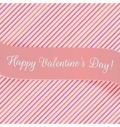 Holiday pink banner for valentines day vector