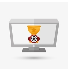 Sport design technology icon white background vector
