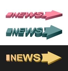 Arrows news vector image