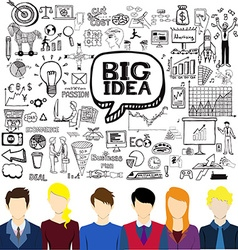 Brainstorming business vector image vector image