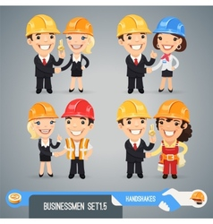 Businessmen Cartoon Characters Set15 vector image vector image