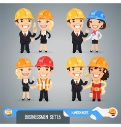 Businessmen Cartoon Characters Set15 vector image