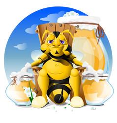 cartoon bee eps 10 vector image vector image