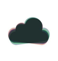 Cloud sign colorful icon vector