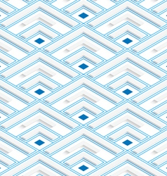 Colored 3D blue striped corners vector image vector image