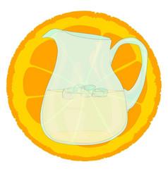 Cool orangeade vector