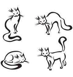cute home cats vector image vector image