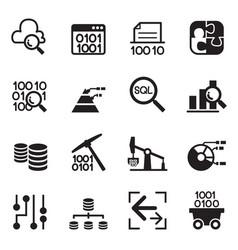 data mining technology data transfer data vector image vector image
