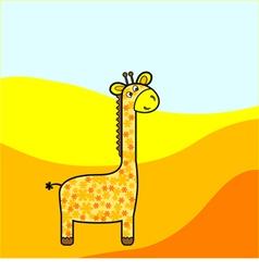Fanny giraffe vector