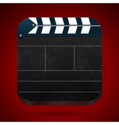 Film clap board cinema vector image
