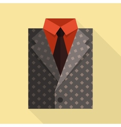 Flat business jacket and tie Gray color vector image vector image