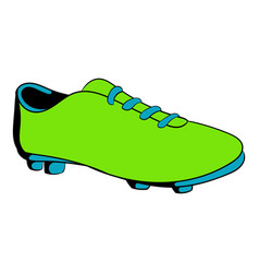 football boot icon cartoon vector image vector image