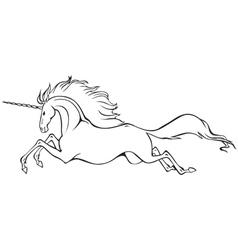 Galloping unicorn vector