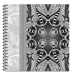 grey design of spiral ornamental notebook cover vector image vector image
