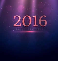 Happy new year 2016 with rays vector