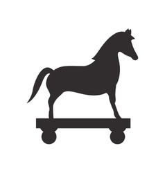 Horse toy icon vector