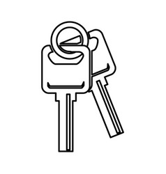 Keys car isolated icon vector