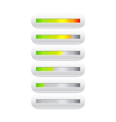 loading bar from green to red vector image vector image