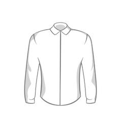 Mens shirt icon black monochrome style vector image