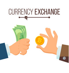 money currency exchange concept dollar and vector image vector image