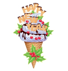 New year ice creams vector