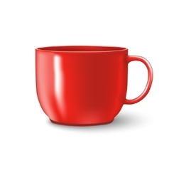 Photorealistic red cup vector