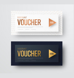 premium gift voucher template the design of cards vector image vector image
